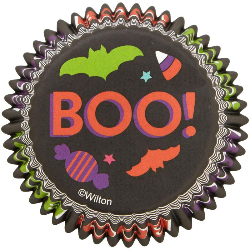 Boo! Halloween Standard Cupcake Liners, 75-Count image number 0