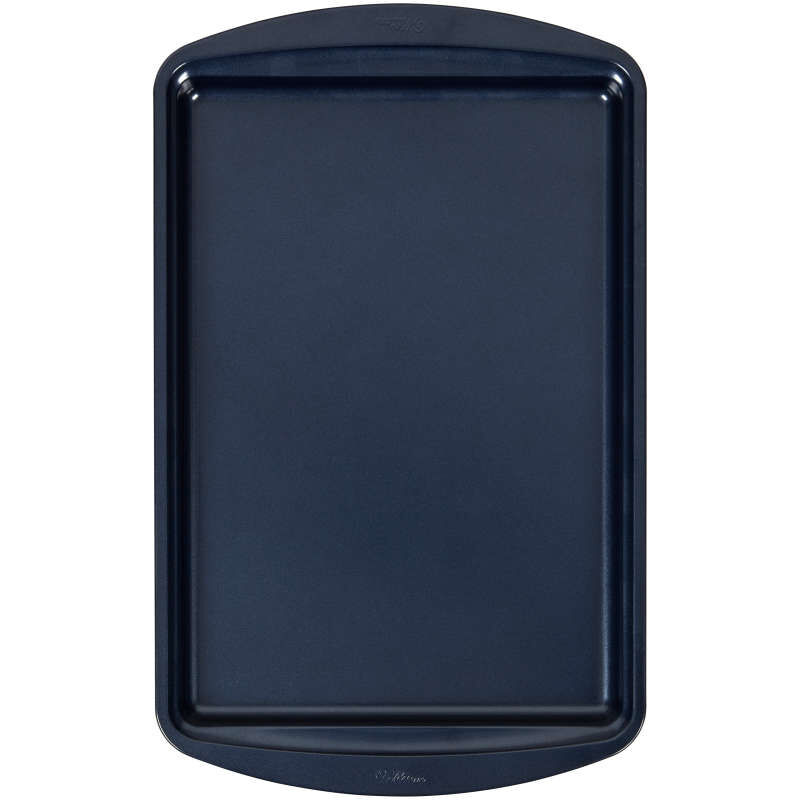 Diamond-Infused Non-Stick Navy Blue Medium Baking Sheet, 15.2 x 10.2-inch image number 0