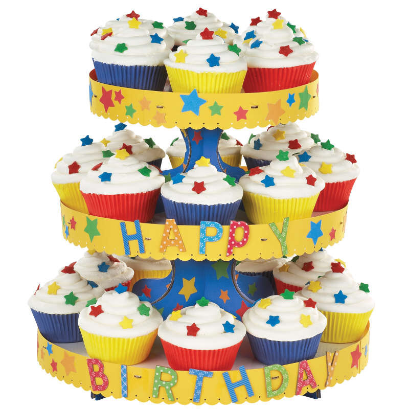 3-Tier Cupcake Stand, White image number 3