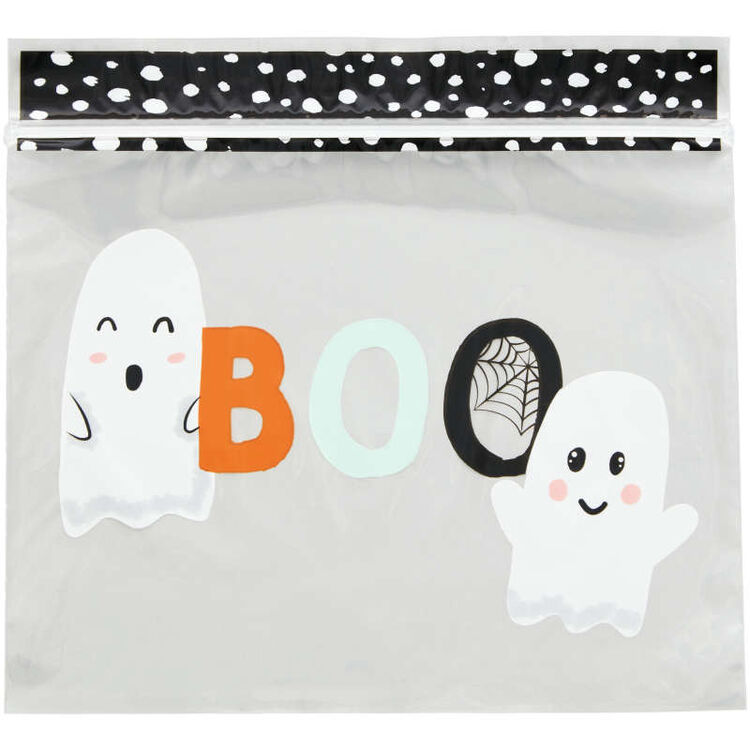 Whimsical Ghost Resealable Halloween Treat Bags, 20-Count