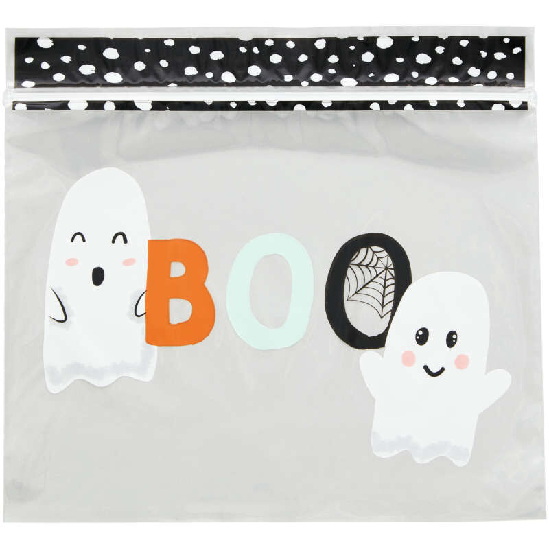 Whimsical Ghost Resealable Halloween Treat Bags, 20-Count image number 1