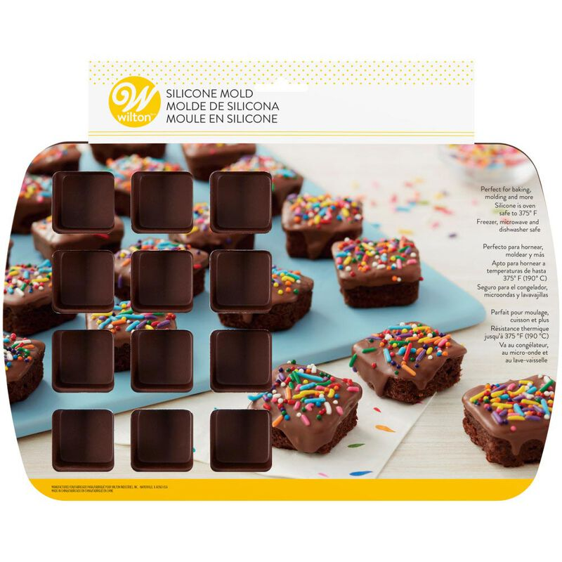Bite-Size Brownie Squares Silicone Mold, 24-Cavity image number 1