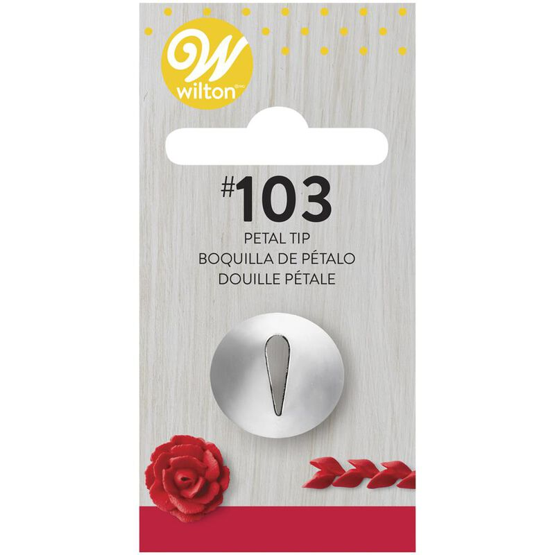 Wilton Decorating Tips - #103 Petal Piping Tip image number 0