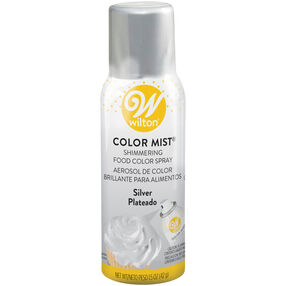 Silver Color Mist Shimmering Food Color Spray 1.5 oz