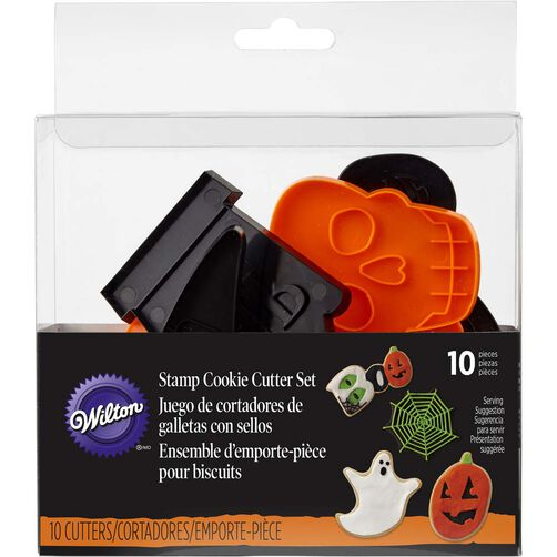 Halloween Shapes Cookie Cutter Set, 10-Piece