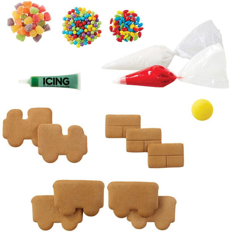 Build it Yourself Christmas Express Gingerbread Train Decorating Kit