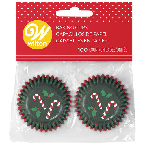 Candy Cane Mini Cupcake Liners, 100-Count
