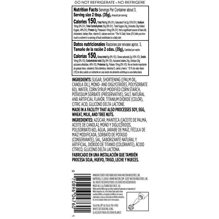 White Ready-to-Use Icing Tube, 4.25 oz.