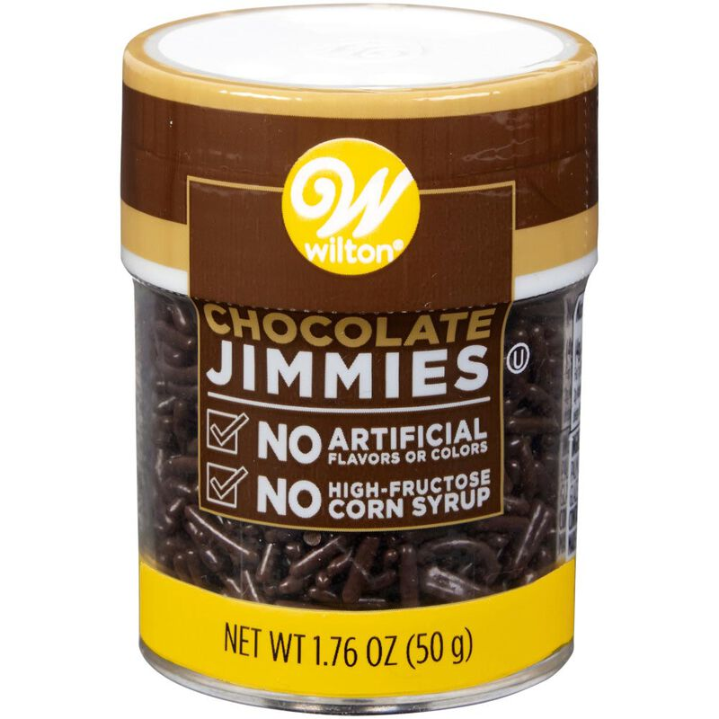 Naturally Flavored Chocolate Jimmies Sprinkles, 1.76 oz. image number 0