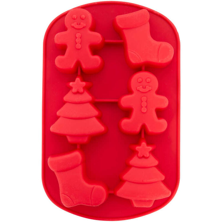 Christmas Shapes Silicone Treat Mold, 6-Cavity