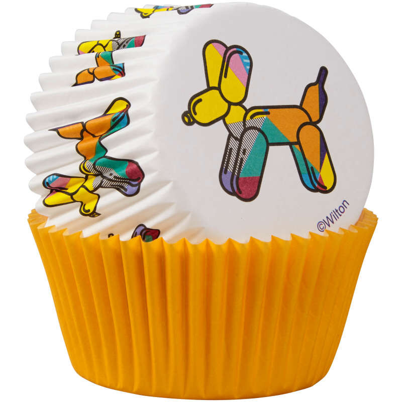 Balloon Dogs and Solid Orange Cupcake Liners, 75-Count image number 2