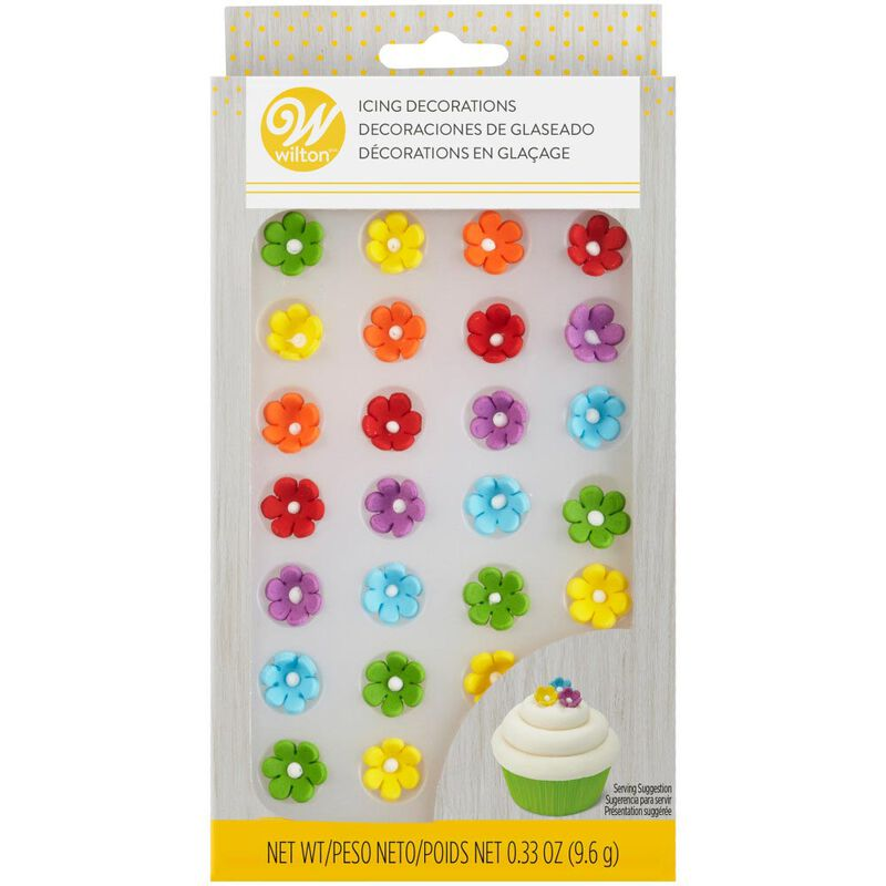 Mini Daisy Multi-Color Icing Decorations, 32-Count image number 2