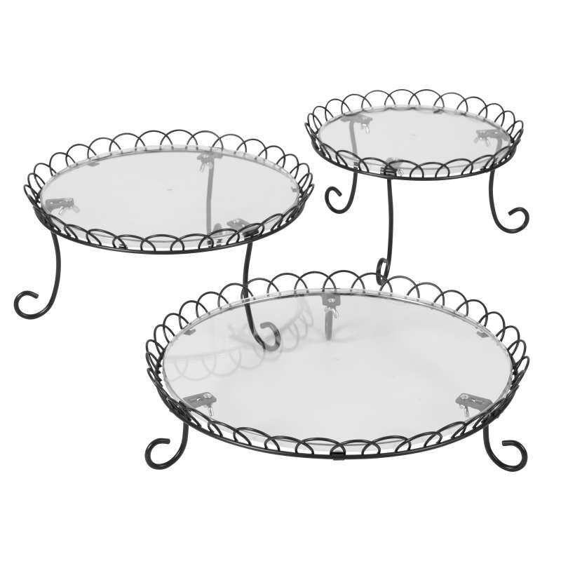 3-Tier Customizable Iron Treat Stand, 13-Inch image number 1