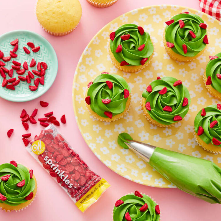 Tropical Party Watermelon-Shaped Sprinkles, 1 oz.