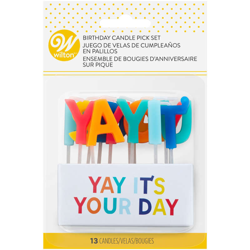 """""""Yay It's Your Day"""" Birthday Candle Pick Set, 13-Count image number 2"""
