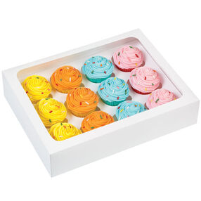 Cupcake Bakery Box - White Mini Cupcake Window Box
