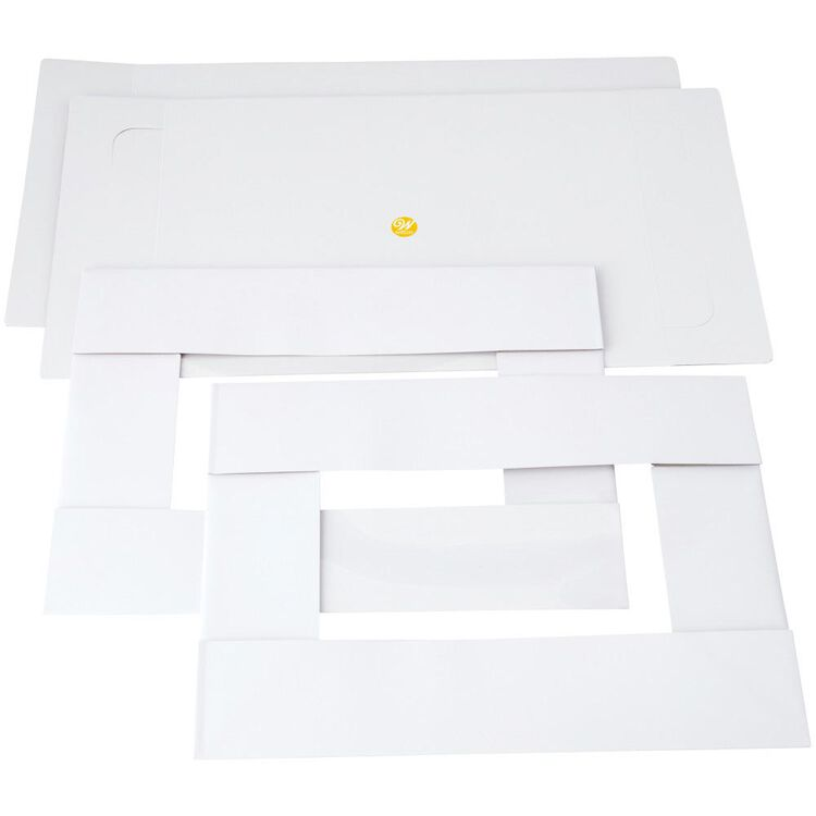 19 x 14-Inch White Cake Boxes with Windows, 2-Count