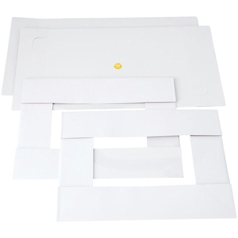 19 x 14-Inch White Cake Boxes with Windows, 2-Count image number 2