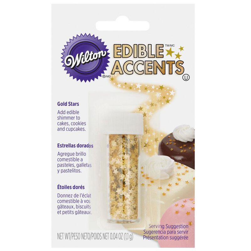Edible Glitter Stars, 0.4 oz. image number 0