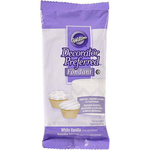 Decorator Preferred White Fondant Pack 4.4 oz.