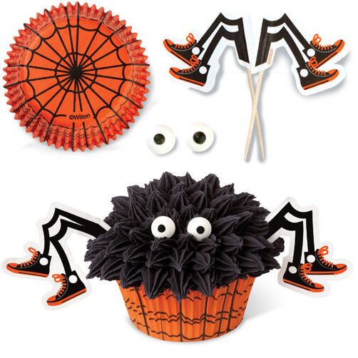 Spooky Pop Spider Cupcake Decorating set