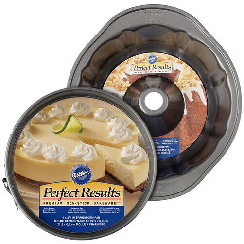Perfect Results Non-Stick 9.75-Inch Fluted Tube and 9-Inch Springform Pan Brunch Set, 2-Piece