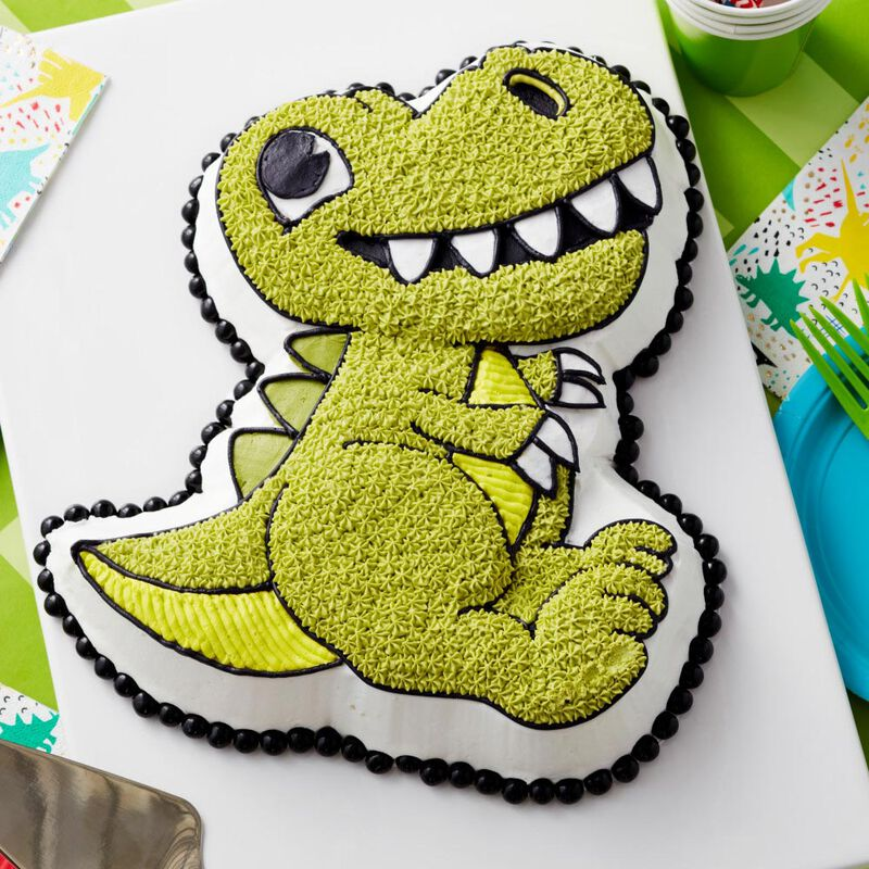 Pleasing Dinosaur Cake Pan Kids 3D Birthday Cake Pan Wilton Personalised Birthday Cards Cominlily Jamesorg