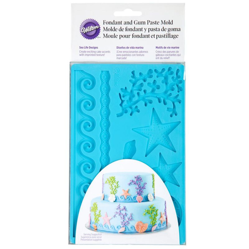 Silicone Sea Life Fondant and Gum Paste Mold - Cake Decorating Supplies image number 1