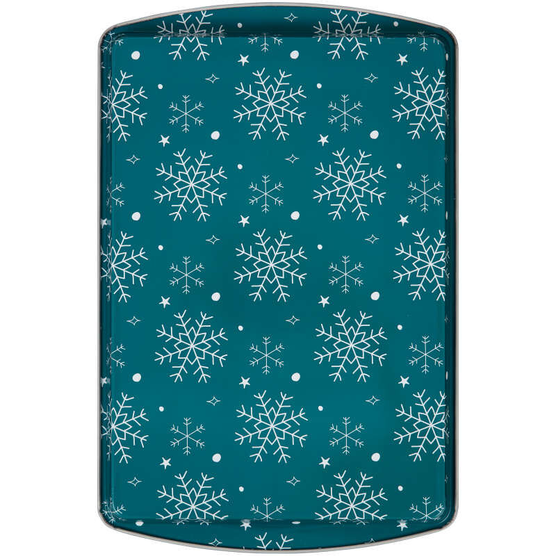 Bake and Bring Snowflake Print Non-Stick 9 x13 Cookie Sheet Set, 2-Count image number 2