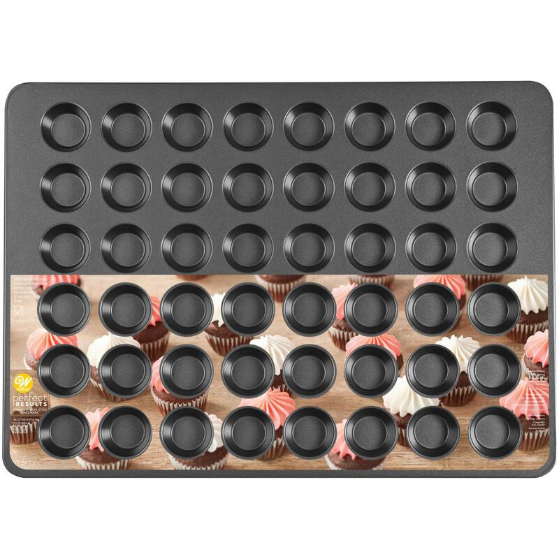 Perfect Results Non-Stick Mega Mini Muffin and Cupcake Pan, 48-cup image number 1