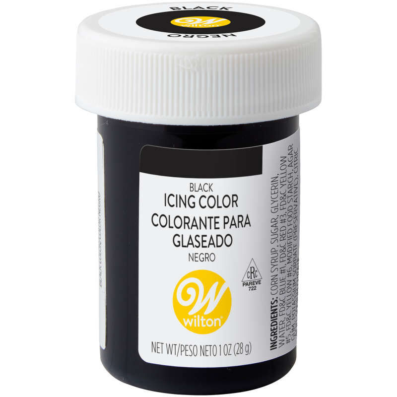 - Black Food Coloring Icing Color, 1 Oz. Wilton