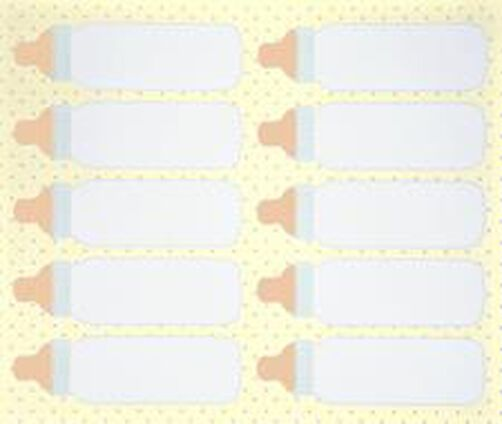 Baby Bottles Favor Tags