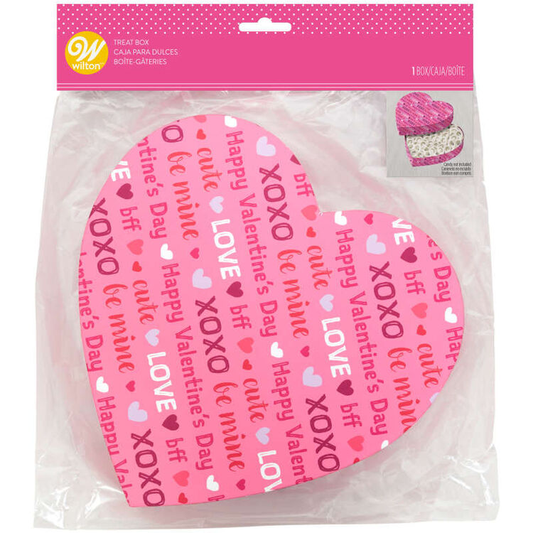 Say it With Words Heart-Shaped Valentine's Day Treat Box, 1-Count