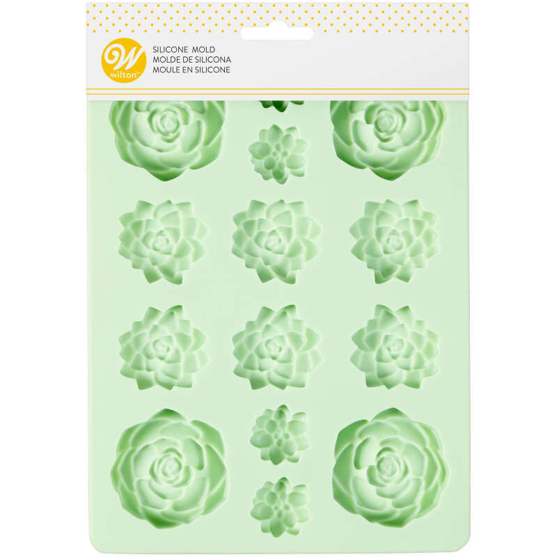 Succulents Silicone Candy Mold, 14-Cavity image number 1