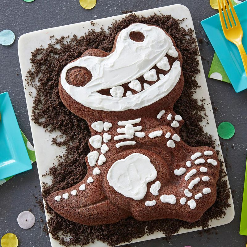 Fabulous Dinosaur Cake Pan Kids 3D Birthday Cake Pan Wilton Personalised Birthday Cards Cominlily Jamesorg