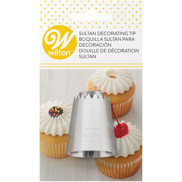 Sultan Decorating Tip for Piping Buttercream Frosting or Meringues