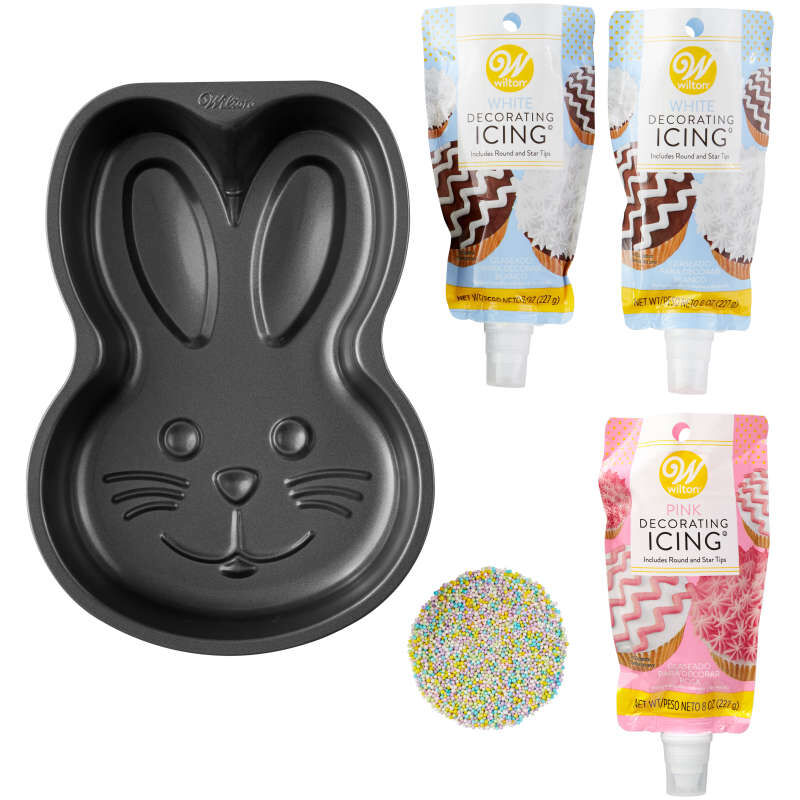 Easter Bunny Cake Baking and Decorating Set, 5-Piece image number 0