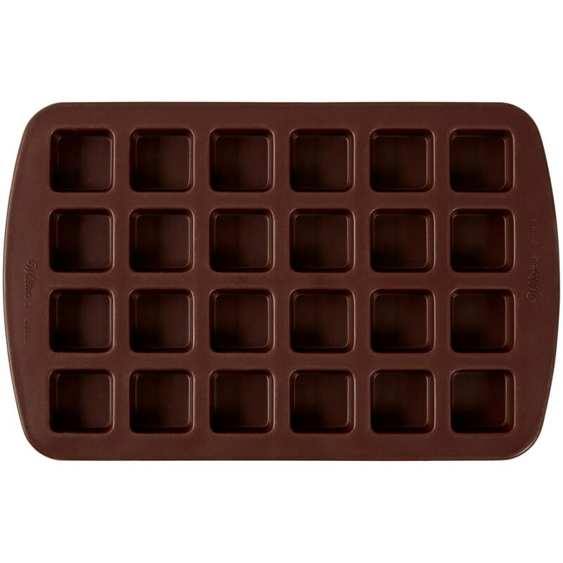 Bite-Size Brownie Squares Silicone Mold, 24-Cavity image number 0