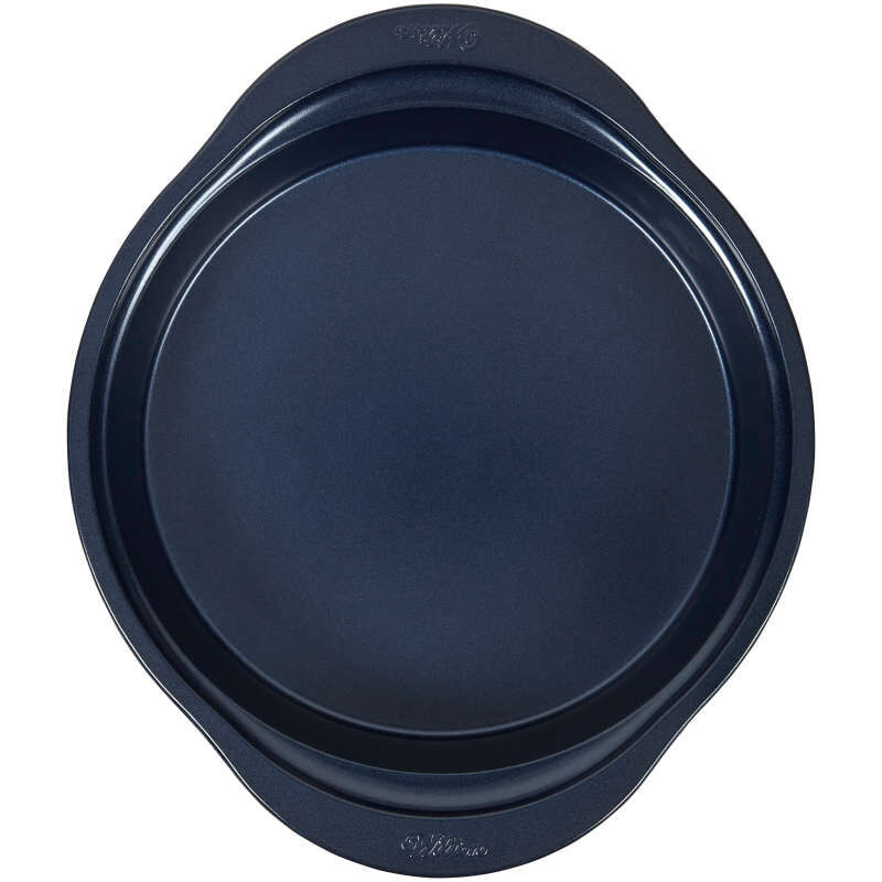 Diamond-Infused Non-Stick Navy Blue Round Baking Pan, 9-inch image number 0