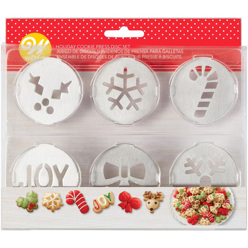 Holiday Cookie Press Disc Set, 6-Piece image number 1