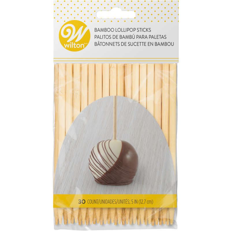 5-Inch Bamboo Lollipop Sticks, 30-Count image number 0