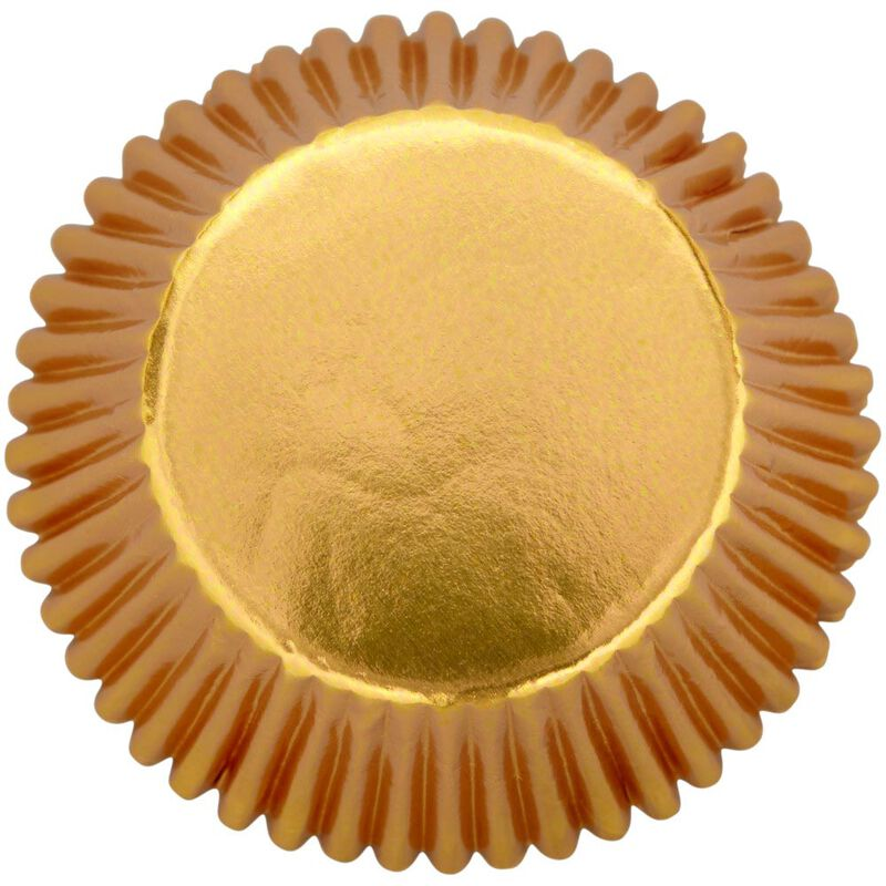 Gold Foil Cupcake Liners, 24-Count image number 0