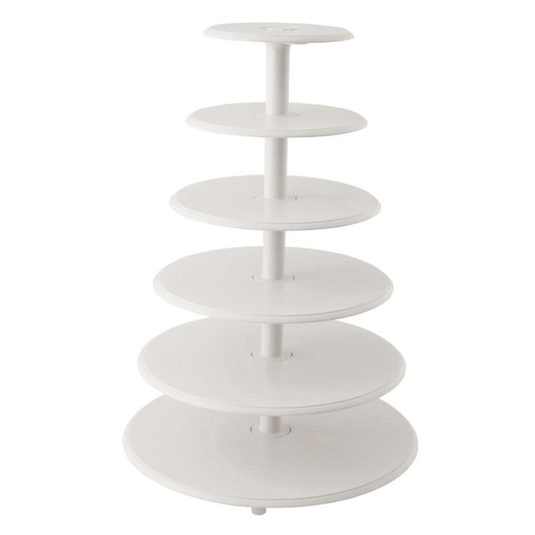 Six Tier Cake Stand Out of Packaging