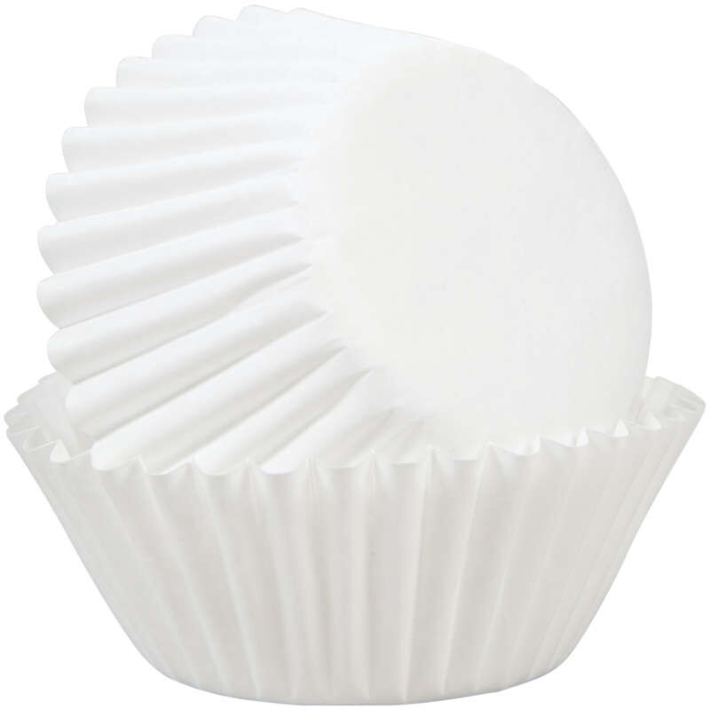 White Mini Cupcake Liners, 350-Count image number 0