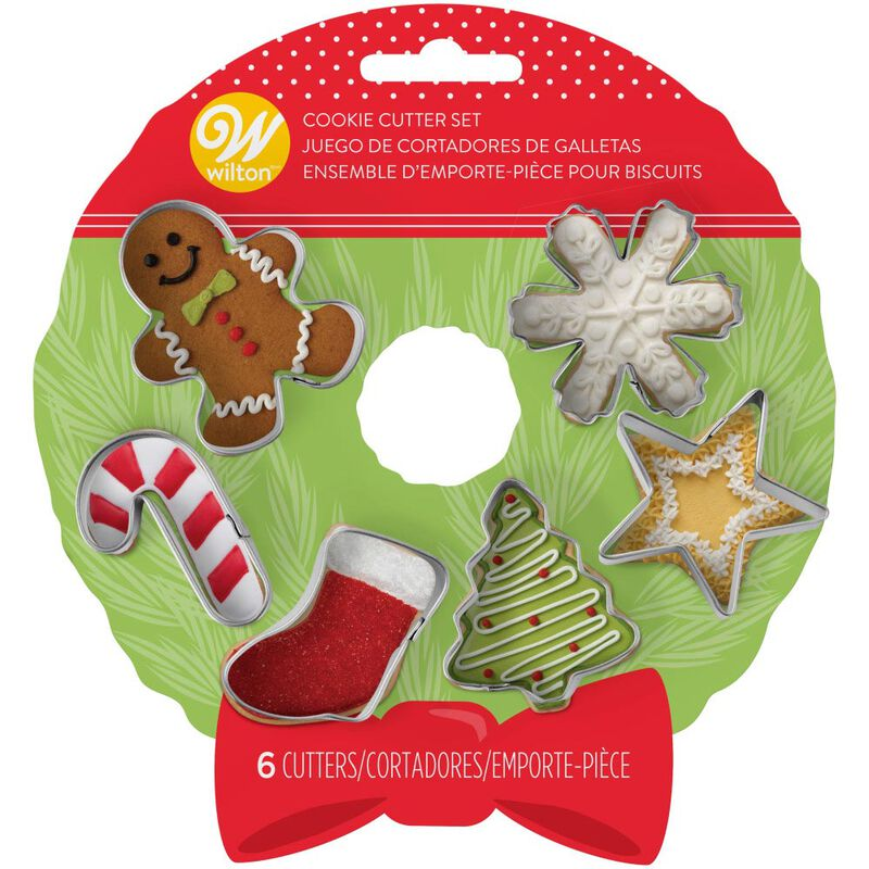 Mini Holiday Cookie Cutter Set, 6-Piece image number 1