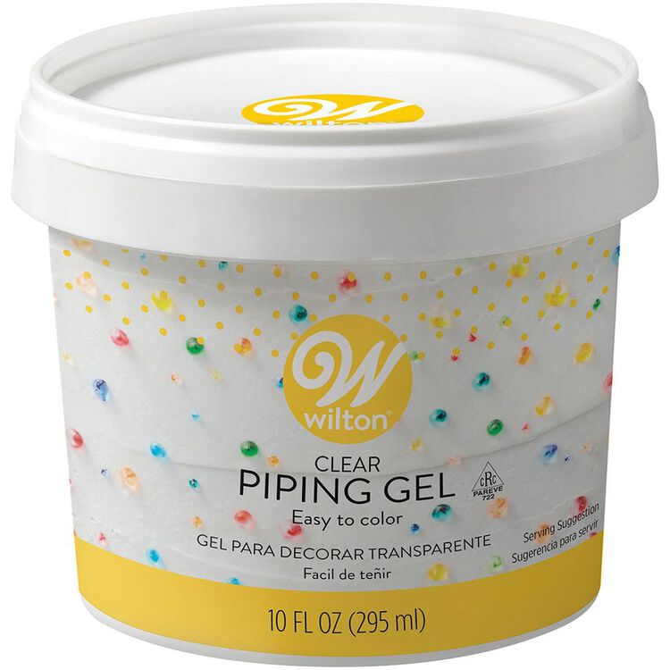 Clear Piping Gel Container