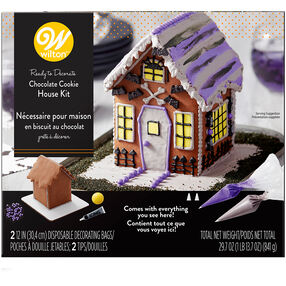 Ready-to-Decorate Halloween Chocolate Cookie House Decorating Kit