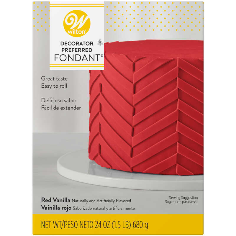 Decorator Preferred Red Fondant, 24 oz. Fondant Icing image number 0