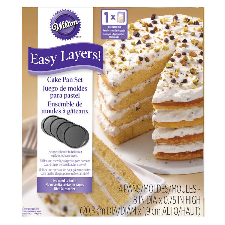 Easy Layers! Round Layer Cake Pans Set,  4-Piece