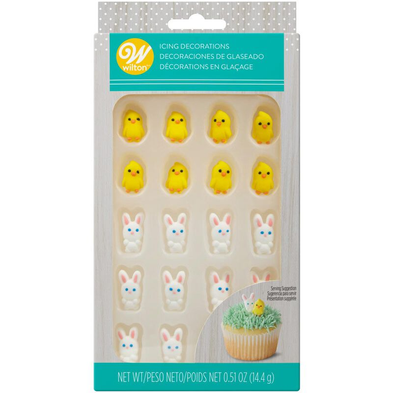 Easter Chicks and Bunnies Icing Decorations, 24-Count image number 2
